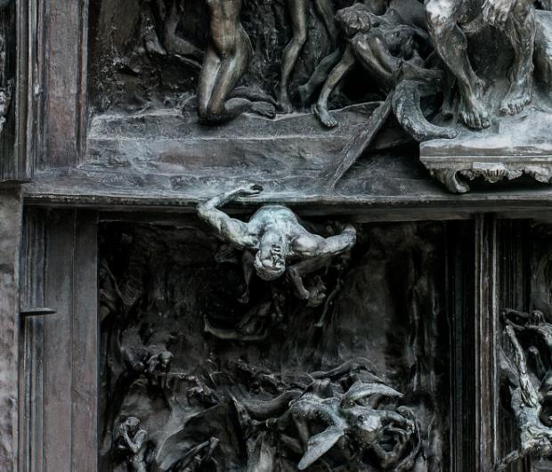 Homme qui tombe la porte de l 39 enfer - La porte de l enfer rodin ...